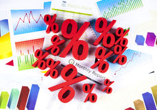 Percentage, Concept of discount colorful tone Stock Images