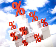 Percentage, Concept of discount colorful tone Royalty Free Stock Photography