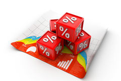Percentage cubes Stock Photo