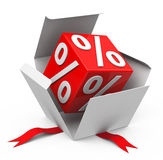 Percentage. 3d generated picture about percentage Royalty Free Stock Image