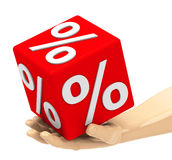 Percentage. 3d generated picture about percentage Stock Images