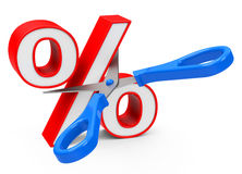 Percentage. 3d generated picture about percentage Royalty Free Stock Photography