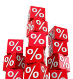 Percentage. 3d generated picture about percentage Royalty Free Stock Photos