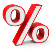 Percentage. 3d generated picture about percentage Stock Image