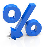 Percentage. 3d generated picture of a percentage concept stock illustration