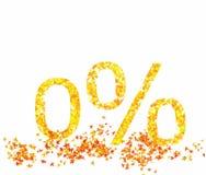 Percentage de herfstbladeren Royalty-vrije Stock Fotografie
