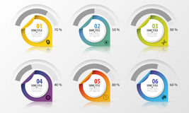 Percentage Diagram Presentation Design Elements. Infographics. Vector Royalty Free Stock Photo
