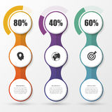 Percentage Diagram Presentation Design Elements. Infographics. Vector Stock Photography