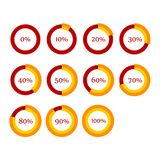Percentage Diagram Presentation Design Elements. Stock Image
