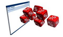 Percentage dice and web page royalty free stock image