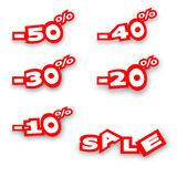 The percentage discount Stock Image