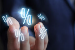 Percentage discount in the business. Royalty Free Stock Image