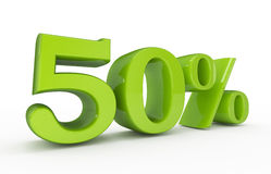 Percentage 50 discount concept. 3d high quality render Stock Photos