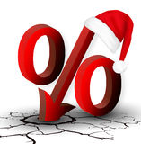 The percentage discounts or low price for the New Year and Chris Royalty Free Stock Photos