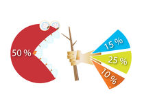 Percentage royalty free stock images