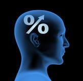 Percentage - een index van intelligentie Royalty-vrije Stock Afbeelding