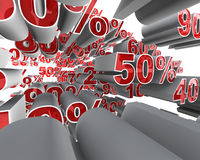 Percentage Fly Through Stock Photography