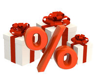 Percentage and gifts Stock Images