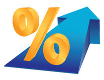 Percentage growing Royalty Free Stock Image