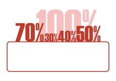 Percentage growth 1 Stock Image