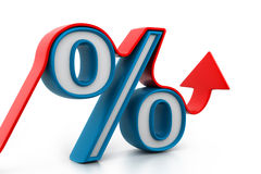 Percentage growth Royalty Free Stock Image