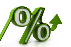 Percentage growth Stock Image