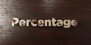 Percentage - grungy houten krantekop op Esdoorn - 3D teruggegeven royalty vrij voorraadbeeld Stock Afbeelding