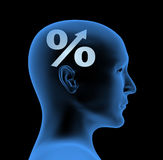 Percentage - an index of intelligence Royalty Free Stock Image