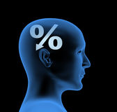 Percentage - an index of intelligence Stock Image