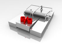 Percentage mouse trap. A mouse trap with a percentage symbol Stock Images