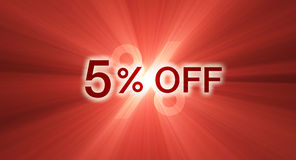 Percentage off discount red banner Royalty Free Stock Images
