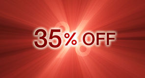 Percentage off discount red banner Royalty Free Stock Image