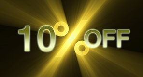 10 percentage off discount sale banner Royalty Free Stock Photos