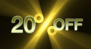 Percentage off discount sale banner Stock Images