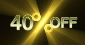 40 percentage off discount sale banner Royalty Free Stock Image