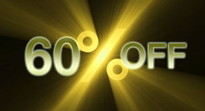 Percentage off discount sale banner Stock Photo