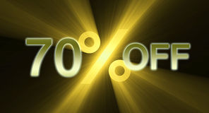 70 percentage off discount sale banner Royalty Free Stock Photography