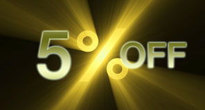 Percentage off discount sale banner Royalty Free Stock Photo