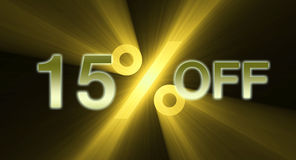 15 percentage off discount sale banner Royalty Free Stock Photography