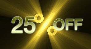 Percentage off discount sale banner Stock Image