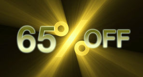 Percentage off discount sale banner Royalty Free Stock Photography