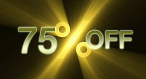 75 percentage off discount sale banner Stock Image
