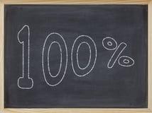 Percentage op een bord wordt geschreven dat Royalty-vrije Stock Fotografie