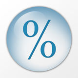Percentage, percent, con, web button, board, hoarding, push button, switch, symbol, sign, logo Royalty Free Stock Photos