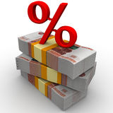 Percentage rate Royalty Free Stock Photos