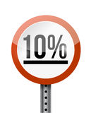 10 percentage road sign illustration design Stock Images