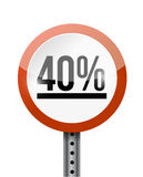 40 percentage road sign illustration design Stock Image