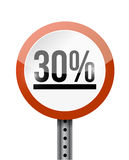 30 percentage road sign illustration design Stock Photo