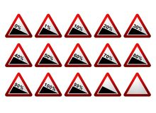 Percentage Road Signs Stock Photo