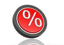 Percentage round icon. Hi-res original 3d-rendered computer generated artwork Royalty Free Stock Photos